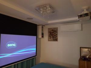 Домашний кинотеатра в спальне
