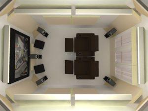 помещение для домашнего кинотеатра
